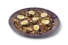 Moroccan meat, plums and eggs Stock Photography