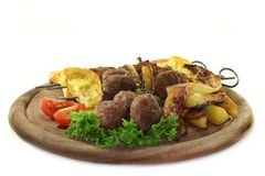 Moroccan meat skewers Royalty Free Stock Images