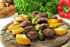 Moroccan meat skewers Stock Photography