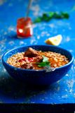 Moroccan meatball couscous soup. Stock Photography