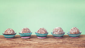 Moroccan miniature sweet balls stock photos