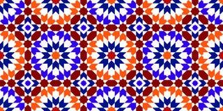 moroccan modell Mosaiska tegelplattor vektor illustrationer