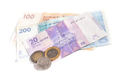 Moroccan money isolated Stock Photography