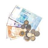 Moroccan money isolated on white Stock Photo