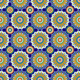 Moroccan Mosaic Seamless Patterns. Retro motif. Textile rapport Royalty Free Stock Photos
