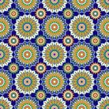 Moroccan Mosaic Seamless Patterns. Retro motif. Textile rapport stock illustration