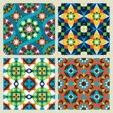 Moroccan mosaic seamless patterns Royalty Free Stock Photo