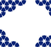 Moroccan mosaic template. Blue moroccan zellige mosaic template. vector illustration Royalty Free Stock Image