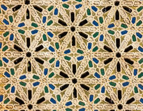 Moroccan mosaic tile, ceramic decoration of Hassan II Mosque, Ca Stock Image