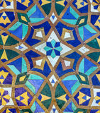 Moroccan mosaic tile, ceramic decoration of Hassan II Mosque, Ca Royalty Free Stock Photo