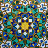 Moroccan mosaic tile, ceramic decoration of Hassan II Mosque, Ca Stock Photos