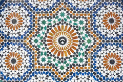 Moroccan Mosaic Tiled Decoration Stock Photo