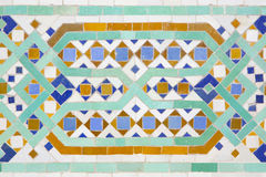 Moroccan mosaic of tiles in Casablanca Royalty Free Stock Image