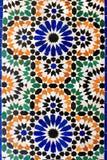 Moroccan mosaic tiles on wall Stock Image