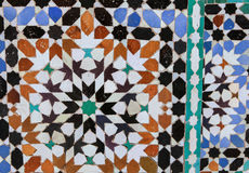 The Moroccan  mosaic zelidzh Royalty Free Stock Images