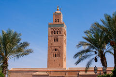 moroccan moské Arkivbild