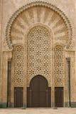 Moroccan mosque door. One of the gigantic doors the Hassan II mosque in Casablanca, Morocco Stock Photography