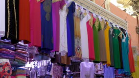 Moroccan muslim women dresses stock video footage