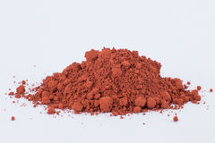 Moroccan Ochre pigment on a white background Royalty Free Stock Photo