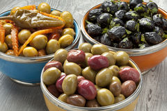 Moroccan olives Royalty Free Stock Photo