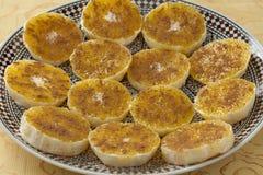 Moroccan orange slices with sugar and cinnamon Stock Image