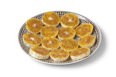 Moroccan orange slices with sugar and cinnamon Royalty Free Stock Photography