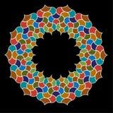 Moroccan ornate tile circle frame graphic. Moroccan ornate tile circle frame vector graphic Royalty Free Stock Image