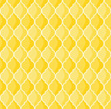 Moroccan pattern. Moroccan geometric seamless pattern in yellow tones Stock Images