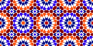 Moroccan Pattern. Mosaic Tiles Stock Photo