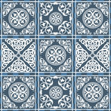 Moroccan pattern 10. Vector seamless patchwork background from ornaments, geometric patterns, stylized flowers and leaves. Moroccan texture Stock Images