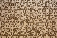 Moroccan patterns arabesques ceramic mosaic, stone engraving stock photography