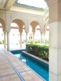 Moroccan pavilion royalty free stock photo