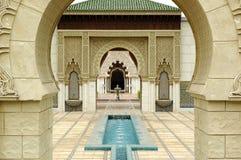 moroccan paviljong Royaltyfria Bilder