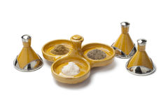 Moroccan pepper,salt and cumin bowl Stock Images