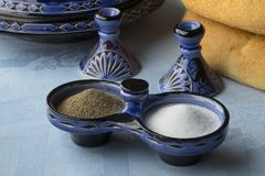 Moroccan pepper and salt set Royalty Free Stock Photography