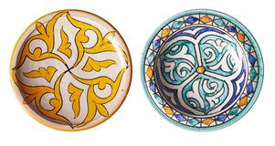 Moroccan plates Royalty Free Stock Photography