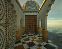 Moroccan Porch Stock Images