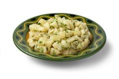 Moroccan potato salad. On white background stock photos