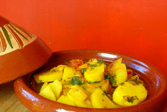 Moroccan potatoes tagine Stock Photo