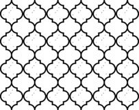 Moroccan Quatrefoil Seamless Pattern Mosaic Ogee Vector stock photography