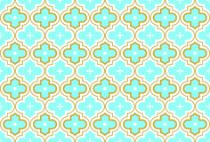 Moroccan Quatrefoil Seamless Pattern Mosaic Ogee Vector stock images