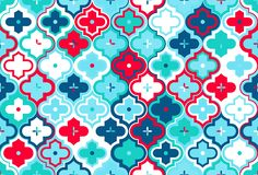 Moroccan Quatrefoil Seamless Pattern Mosaic Ogee Vector stock illustration