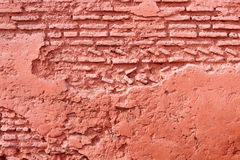 Moroccan Red Brick Wall Stock Photo