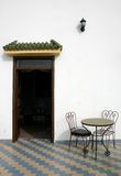moroccan restaurang arkivbild