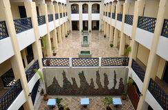 Moroccan Riad. Inner Courtyard of a Traditional Moroccan Riad Royalty Free Stock Photography