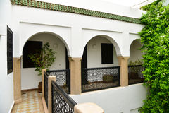 Moroccan riad detail Royalty Free Stock Photo
