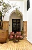 Moroccan riad interior Royalty Free Stock Photo
