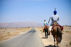 Moroccan riders Stock Image