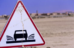 Moroccan road sign no.2 Stock Photography