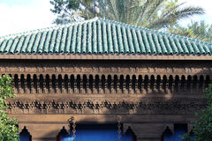 Moroccan roof and frieze Stock Photo